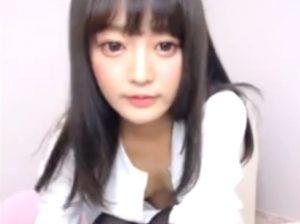 【美少女×ライブチャット】流出!?ノーブラスレンダー美少女のエロチャット!