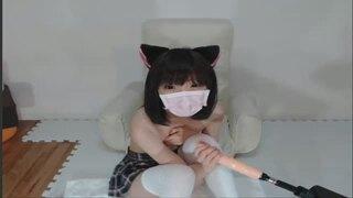 超Cuteな猫耳のちっぱい素人娘が大人のオモチャでハードオナニー体験!